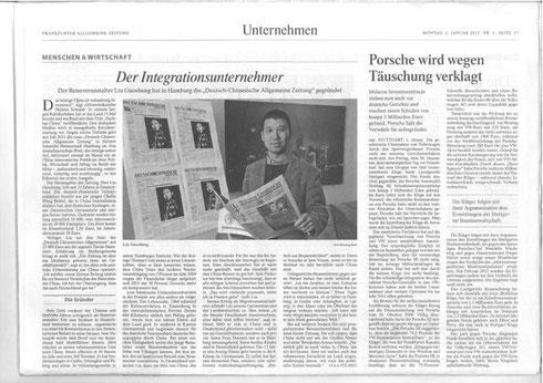 Artikel in Frankfurter Allgemeine Zeitung
