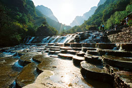 Der Baligou Naturpark, Provinz Henan, China.