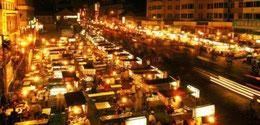 Gulou Nachtmarkt in Kaifeng, Henan, China.