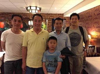YangLixin (1. v.l.), Liu Guosheng (2. v.r.), Pu Cunxi (1. v.r.)