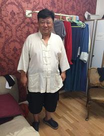 Liang Guanhua vor seinem Auftritt