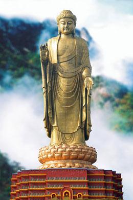 Zhongyuan Buddha - die größte Buddhastatue der Welt, Henan, China.