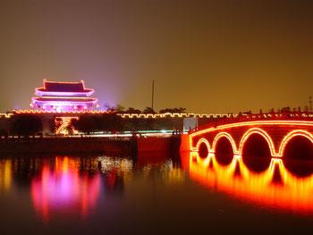 Die Altstadt von Suiyang, Shangqiu, Henan, China.