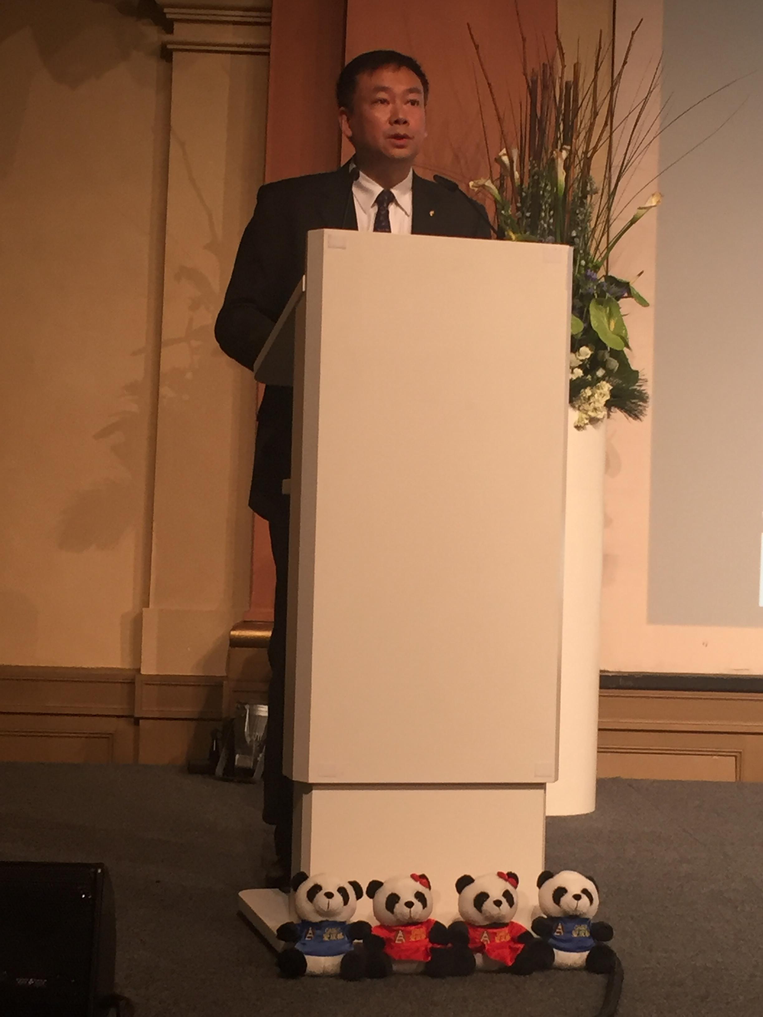Delegationsleiter YIN Jian stellt Chengdu vor