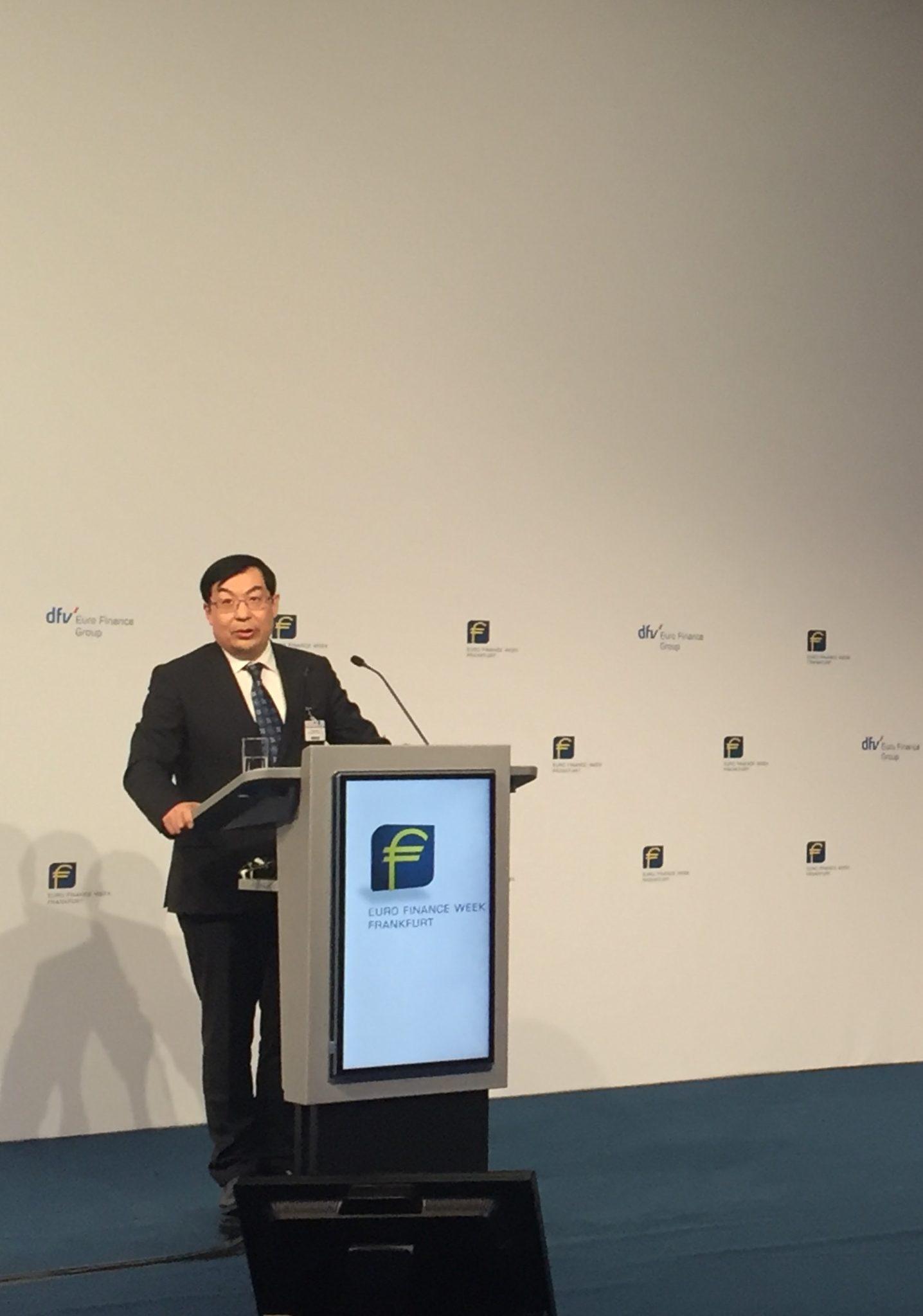 Gesandter Botschaftsrat WANG Weidong bei seiner Eröffnungsansprache