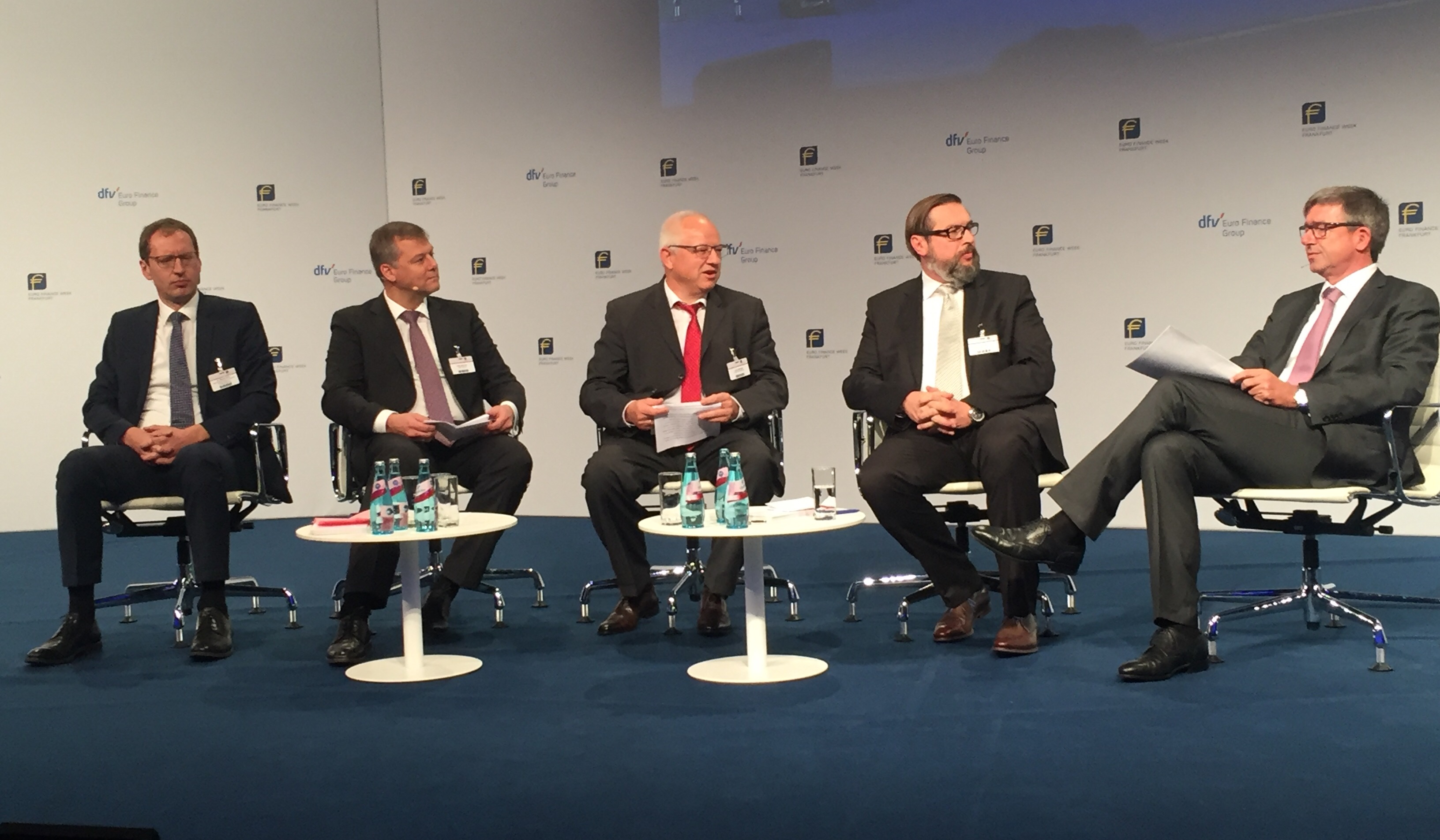 Panel 1 von links: Dr. Bredt, S. Jürgensen, J. Metzger, U. Leuchtmann und B. Meist