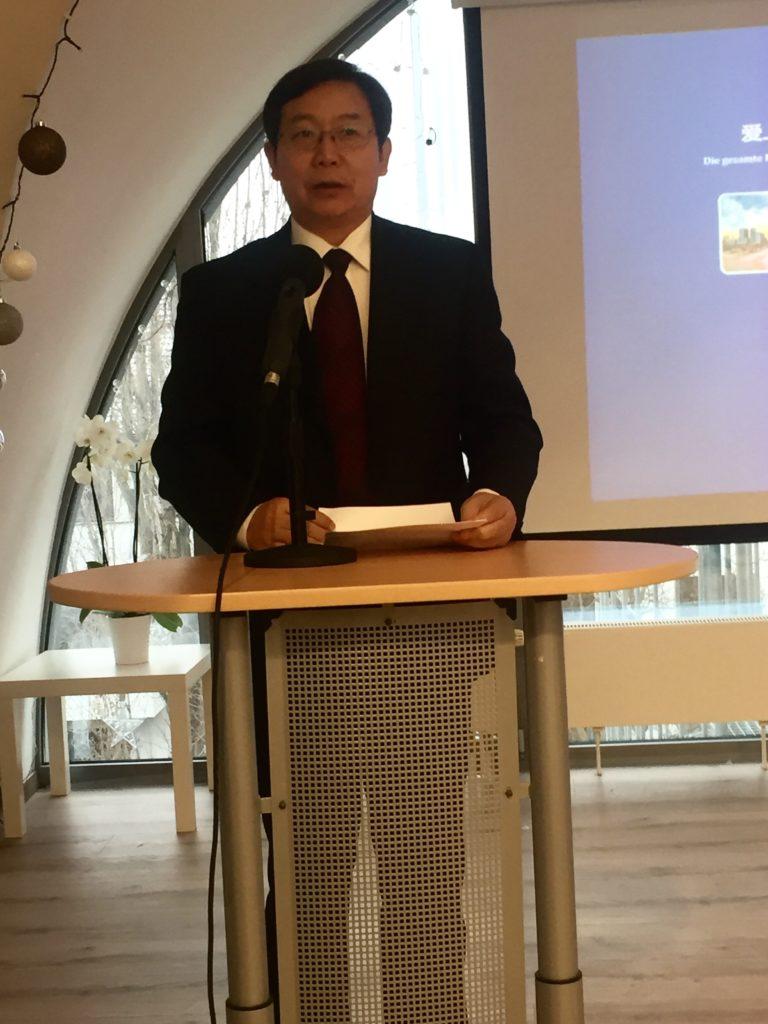 Ausstellung über Zhengzhou: Grußwort von Generalsekretär Pei