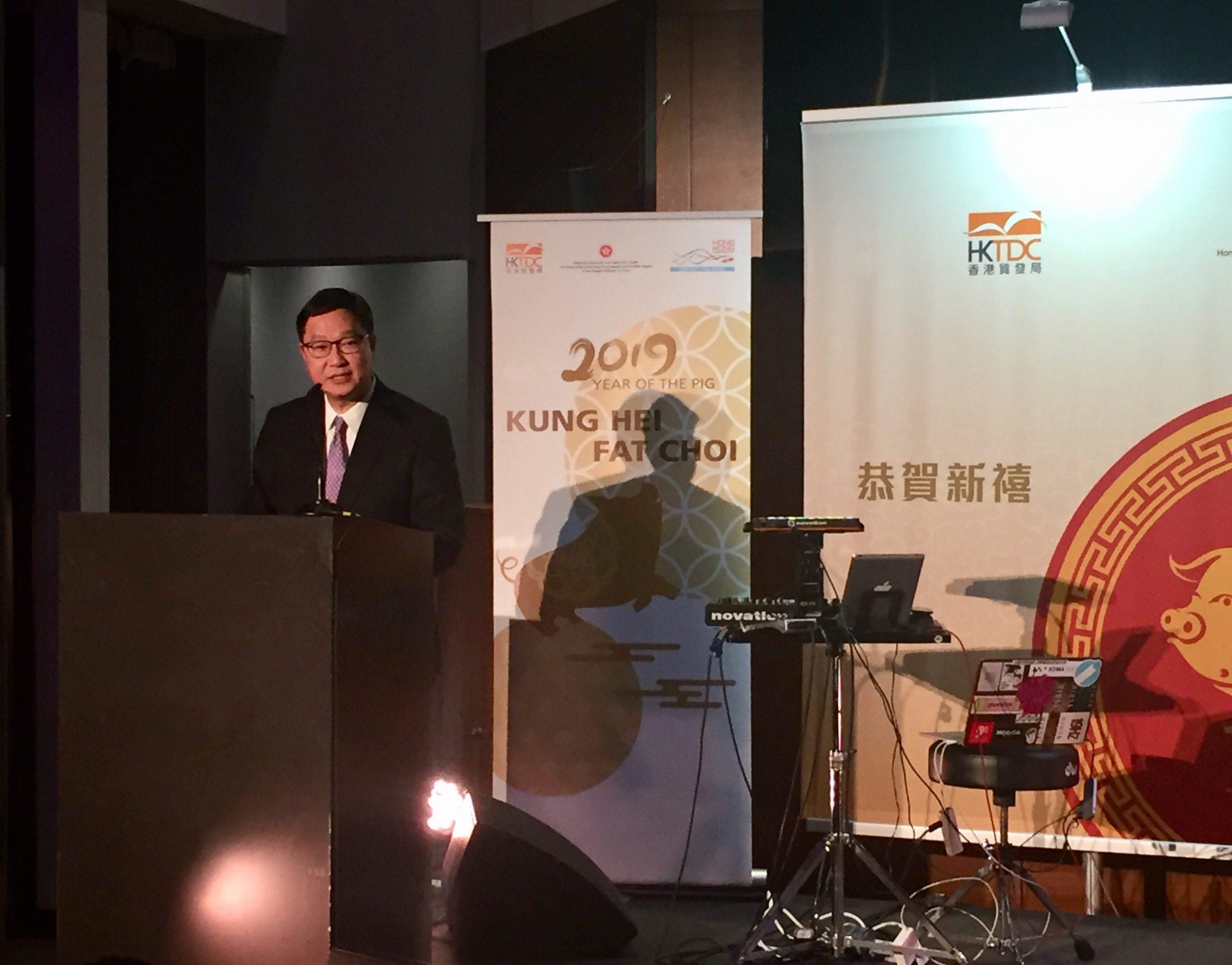 Direktor Chui bei der Begrüßung