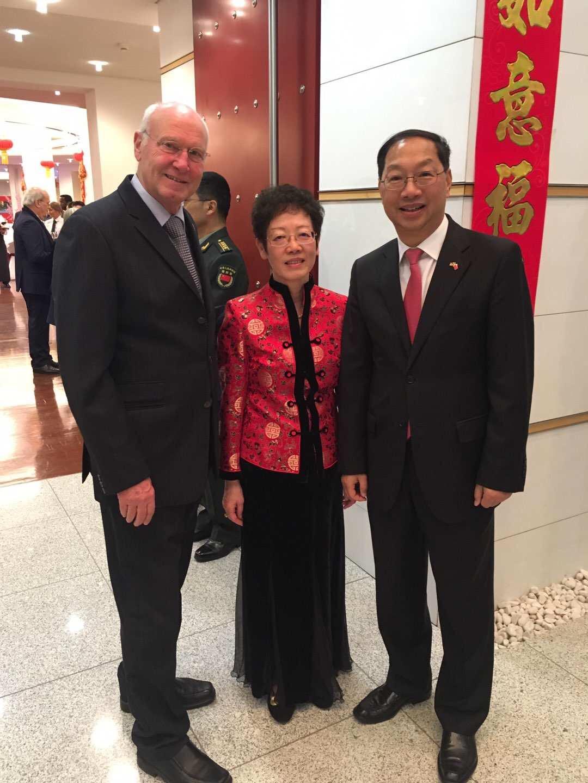Die Grüße der Arbeitsgemeinschaft Deutscher China-Gesellschaften e.V. überbrachte deren Präsident Kurt Karst