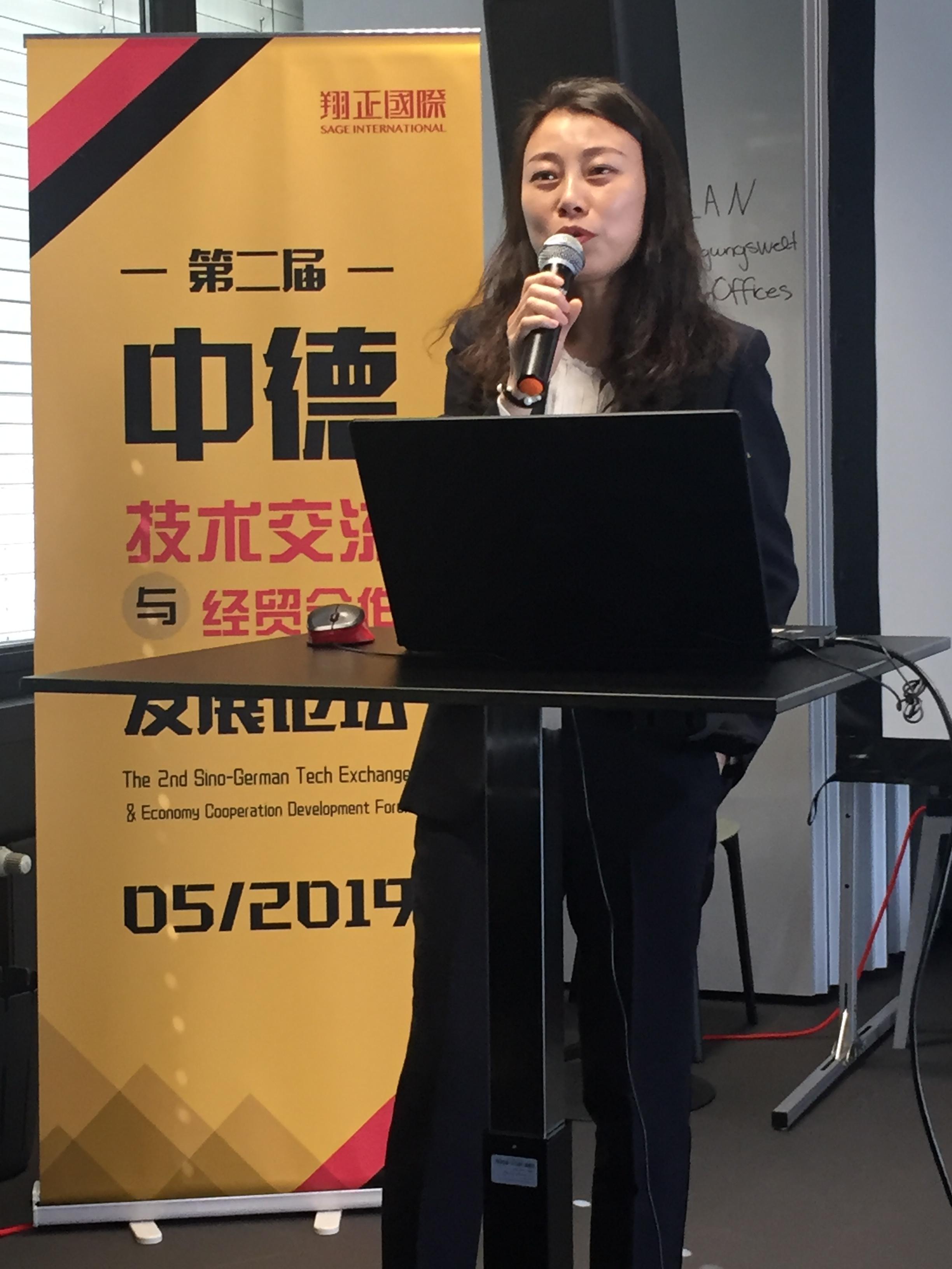 "Den Erfolgsweg von ""Haier"" beschreibt Frau SUN Yao"