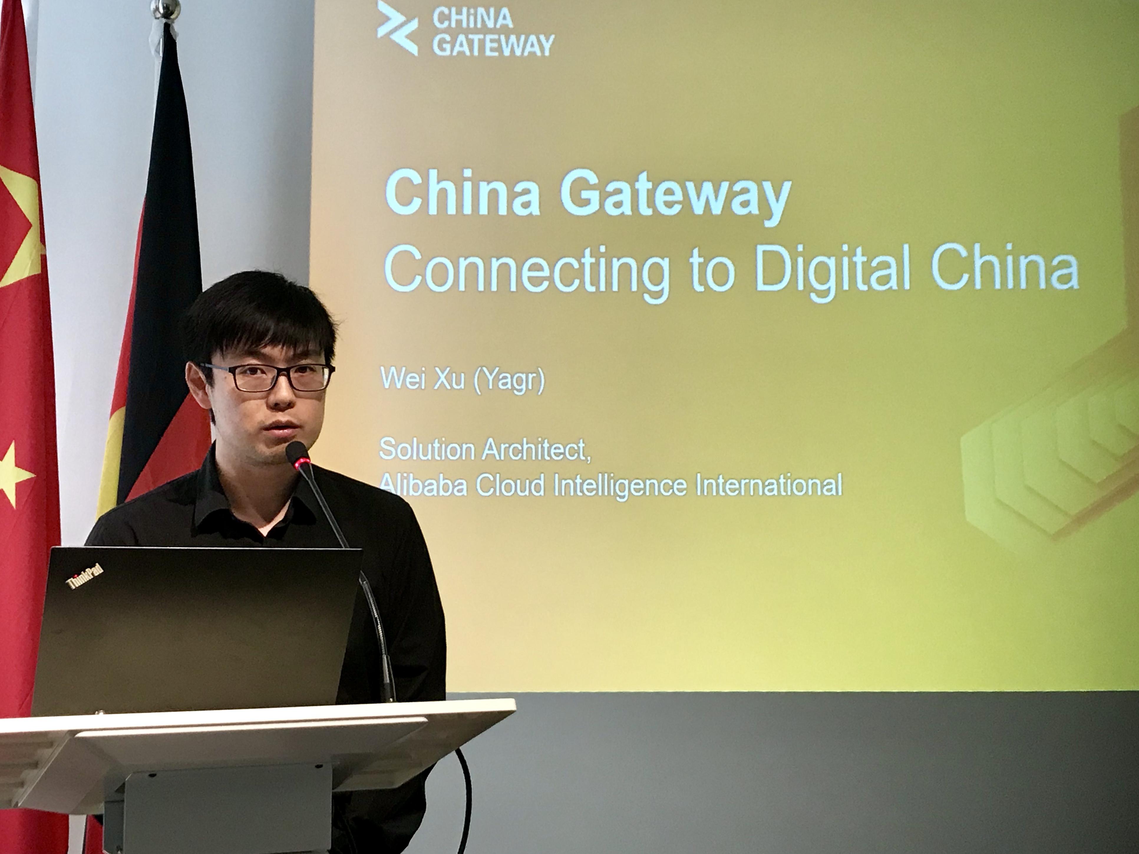 XU Wei beschreibt das Serviceangebot von Alibaba für Unternehmen