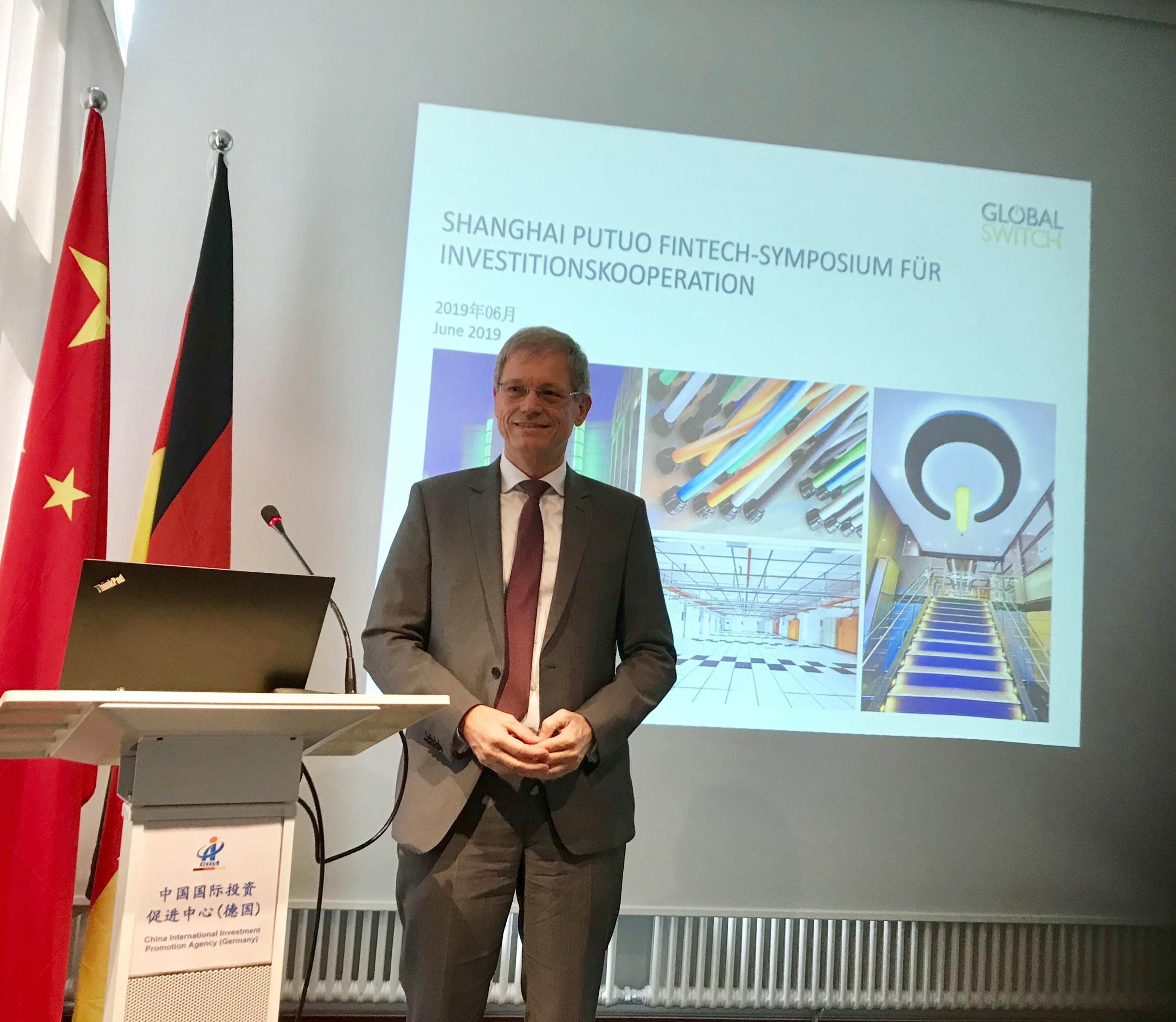 Das Leistungsspektrum von Global Switch wurde dargelegt von Europa-Direktor Peter Knapp