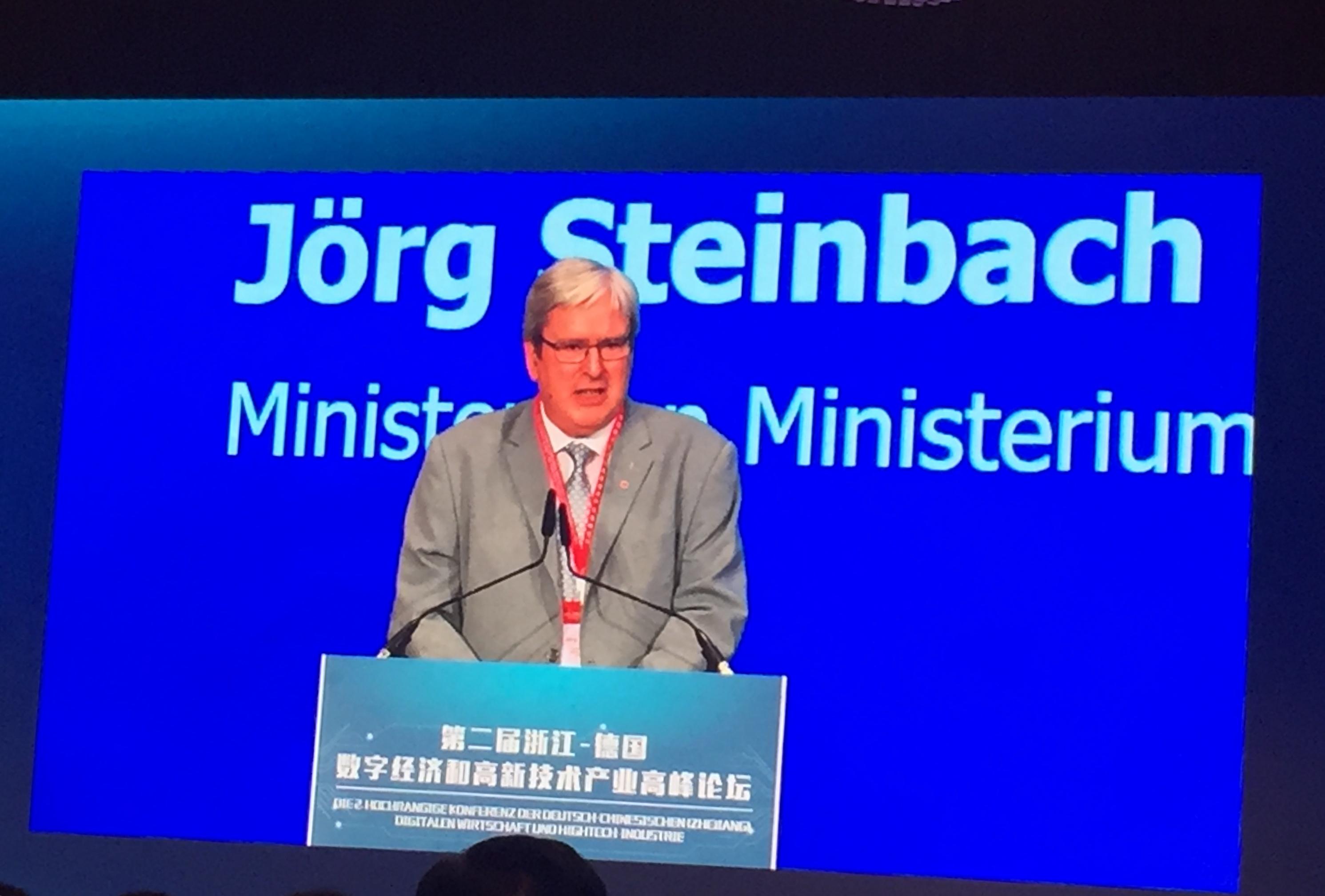 Minister Jörg Steinbach wirbt für Brandenburg als Investitionsstandort