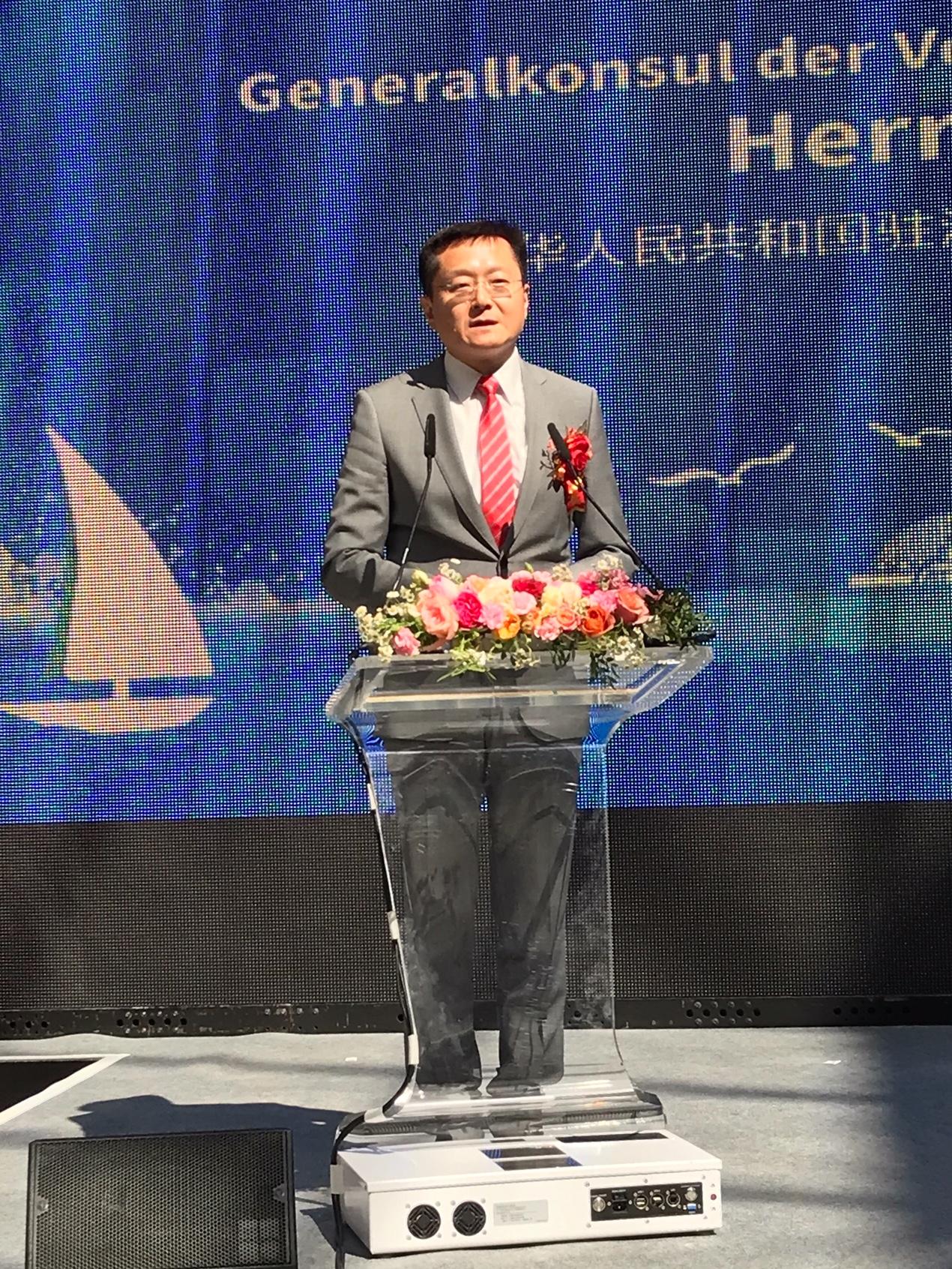 GK Du Xiaohui begrüßt